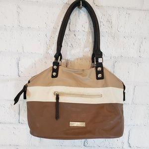 JESSICA SIMPSON Large Neutral Brown Bag Purse